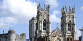 York Minster view from holiday apartment